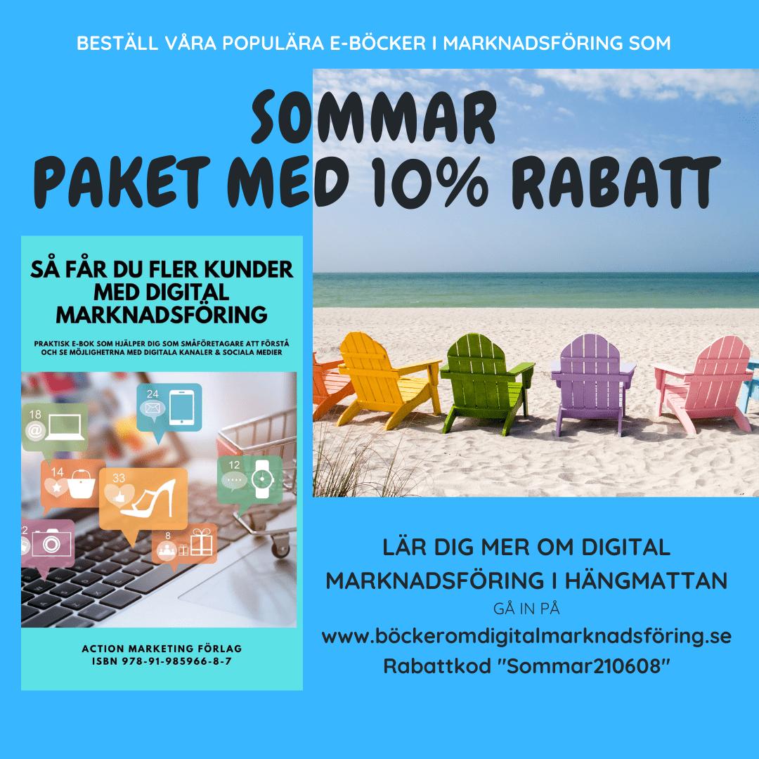 Sommarpaket e-böcker marknadsföring